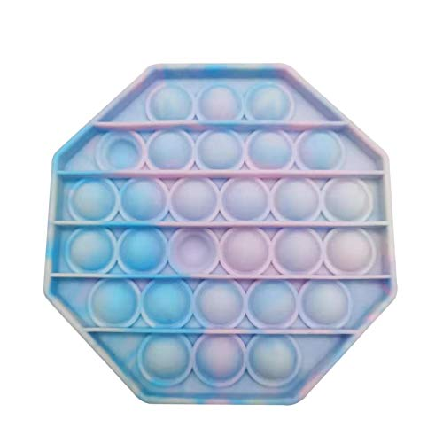 Awayhall Juguete Sensorial Pop-it Antiestres Fidget Toys PU-SH Pop Pop Bubble Fidget Multicolor Fidget Sensory Toys Apriete El Juguete Sensorial De Burbujas para Niños Y Adultos