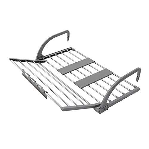 DQWGSS Tendedero Ropa Plegable Airer Portátil Plegable Longitud Ajustable Balcón Barandilla Ropa...