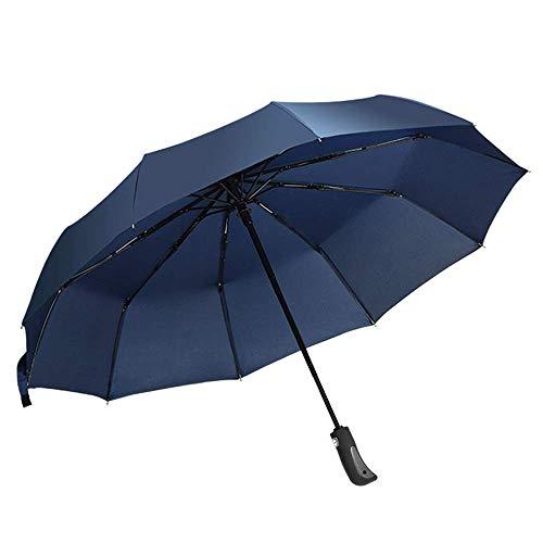 Paraguas plegable de paraguas Paraguas plegables para mujeres con paraguas paraguas a prueba de viento moda con dosel reforzado 10 reforzado fibra de vidrio costillas auto abrendo paraguas de viaje im