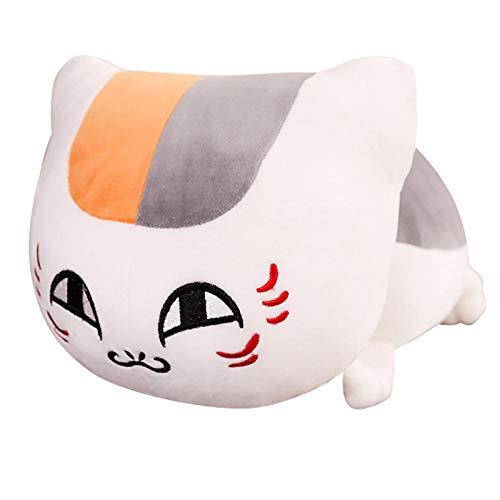 Pluche Schattige Kattenpop Knuffel Zwart-Witte Kat Lappenpop Pop Slapend Kussen-Witte Ronde Ogen _60cm
