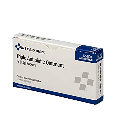12-001 Triple Antibiotic Ointment Packet (Box of 12) from First Aid Only