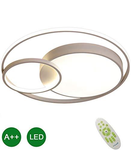 Dimbare LED Ronde Plafondlamp 40W Moderne Afstandsbediening Inbouw Plafondlamp Aluminium IJzer Moderne Silicagel Binnenverlichting Chique Design Keuken Slaapkamer Geverfde Afwerking 40cm Wit