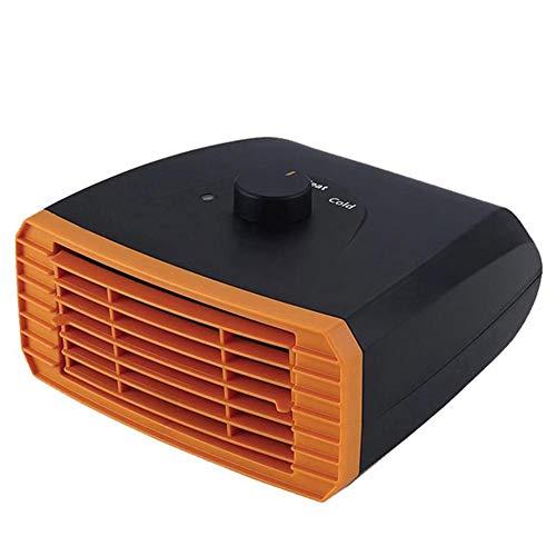 Z&LEI Calentador de automóvil portátil de 12V / 24V, calefacción rápida Defogger Fan de enfriamiento al Calor Calentador Calentador de Nieve Aire Acondicionado 15x16cm,Rojo