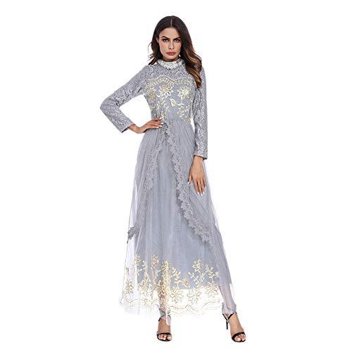 Deylaying Frauen Muslim Maxi Kleid - Muslim Abaya Dubai Islamic Kaftan Nahen Osten Langarm Arabisch...