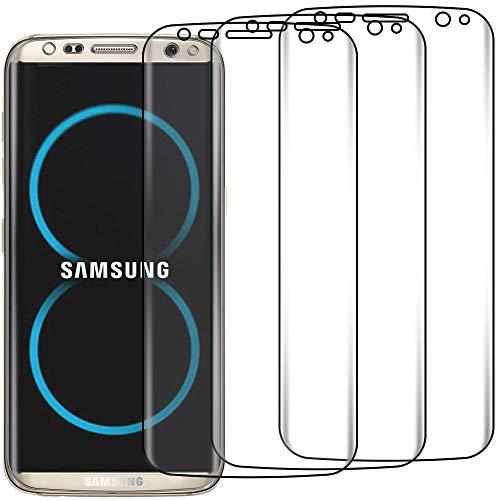 ebestStar - Pacco da 3 Pellicole Compatibile con 3D Samsung S8 Plus Galaxy Schermo Copertura Integrale Moribda Anti Shock, Anti Rottura, Anti graffio [Apparecchio: 159.5 x 73.4 x 8.1mm, 6.2'']