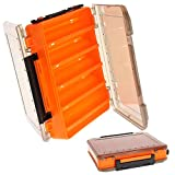 Caja de señuelos, caja de pesca de plástico, 10 compartimentos, caja de almacenaje de plástico de pesca, caja de cebos de doble cara, caja de...