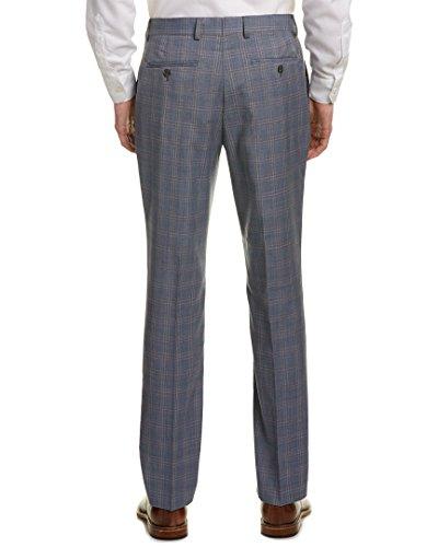 Original Penguin Men's Flat Front Slim Fit Glen Plaid Suit Separate Pants, Blue, 38W x 30L