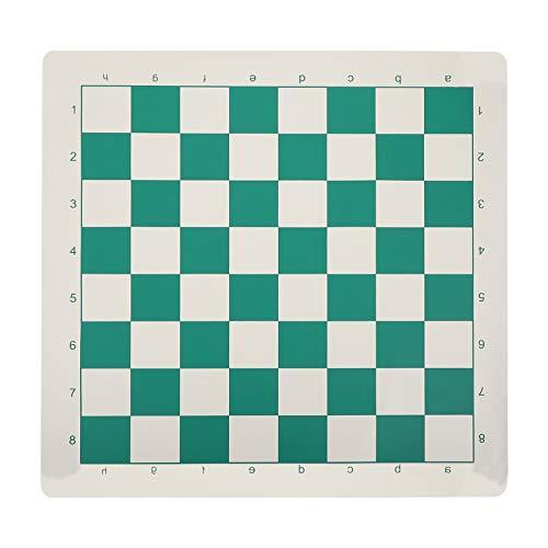 jojofuny Tablero de Ajedrez Internacional Clásico de Cuero Enrollable Tablero de Ajedrez Plegable Backgammon Tablero de Juguete Educativo para Principiantes Competición 51Cm