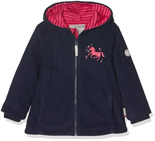 Sigikid Mädchen Fleece, Mini Jacke, Blau (Blau (Mood Indigo 275) 275), 98