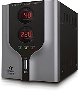 Norstar DAVR-10000 10000 Watt 110/120 to 220/240 or 220/240 to 110/120 Step UP and Down Voltage transformer and Automatic Voltage Regulator Stabilizer