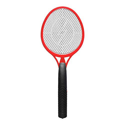 Vettora Electric Fly swatter Mosquito | Swatter 3 Layer Hollow Out Battery Operated Bug Zapper | Best High Voltage Handheld Mosquito Killer, Frui Insect Trap Racket (Red)