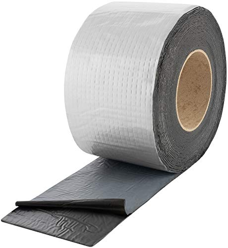 Poppstar Alu Butyl Klebeband (10 m x 100 mm x 1,5 mm) Aluminium Dichtband selbstklebend