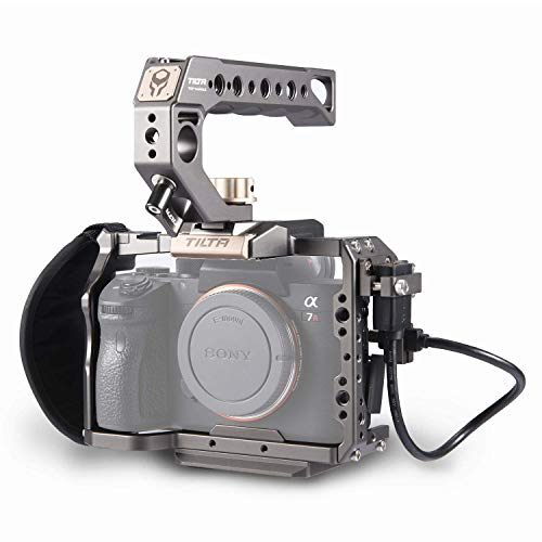 Tilta TA-T17-A-G Kamera Käfig Camera Cage für Kompatibel mit Sony A7 / A7SII / A9 / A7RIII / A7III / A7RIV Camera Rig (ILCE-7RM3 / A7R Mark III/ILCE-7RM4) TILTAING A7/A9 Series Kit A