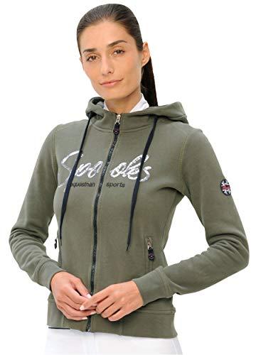 SPOOKS Damen Sweatjacke, Kapuzen-Jacke Mädchen Kinder Frauen - Lina Jacket - Light Olive xs