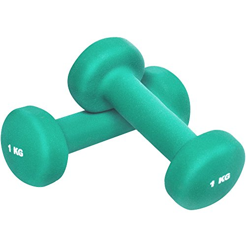 GORILLA SPORTS® Kurzhantel-Set Vinyl 1-10 kg für Gymnastik, Aerobic, Pilates Fitness – 2er-Set 2 kg - 2 x 1 kg