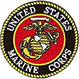 United States Military Patch, USA Marine Corps Logo - Embroidered Sew On/Iron On Patriotic Patch - 3
