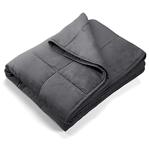 Gewichtsdecke Therapiedecke Weighted Blanket, 135 x 200 cm, 8kg, schwere Decke beschwerte Decke Gewicht Decke für Erwachsene, mit Aufbewahrungstasche für Stressabbau, besseren Schlaf, Einschlafhilfe