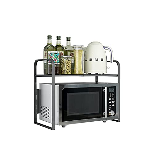 WBJLG Estante Extensible para Horno microondas, mostrador de Cocina, Organizador de Almacenamiento, Estante para Impresora, Estante para fax, 2 Capas, Estante Plegable para Panadero