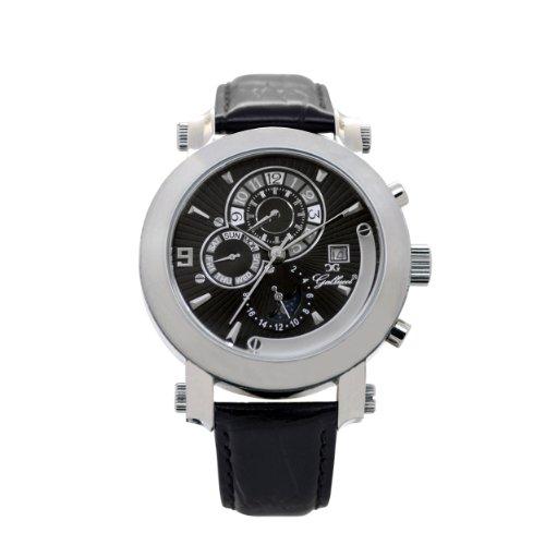 2f4fb224ac0 Gallucci Men s Automatic Black Dial Silver Case Watch  WT22448AU SSL K