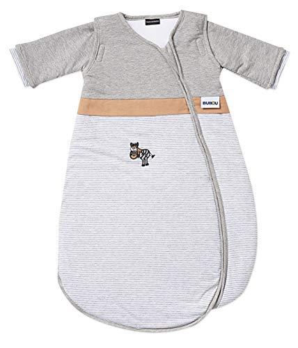 Gesslein 772108 Bubou temperatuurregulerende slaapzak voor het hele jaar door/slaapzak voor baby's/kinderen, maat 90 gestreept met zebra