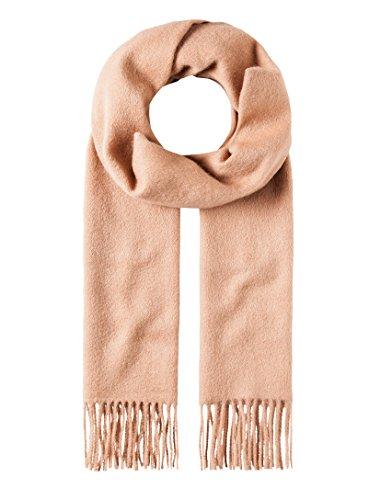 Vincenzo Boretti Herren Damen Schal aus Wolle & Kaschmir klassisch modern elegant edel uni einfarbig warm leicht fein Herrenschal mit Fransen camel