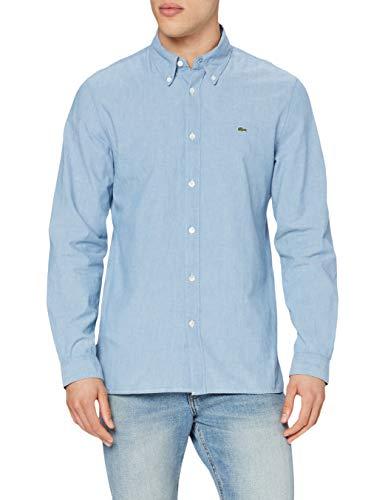 Lacoste Herren CH2967 Klassisches Hemd, Bleach Denim, M/L