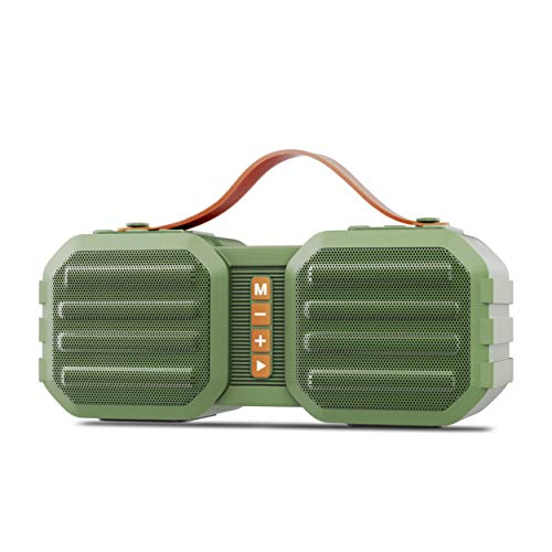 Zebronics Sound Feast 50 Portable Speaker Supporting Bluetooth, pendrive, mSD Slot, FM, Aux Input,Call Function (Green)