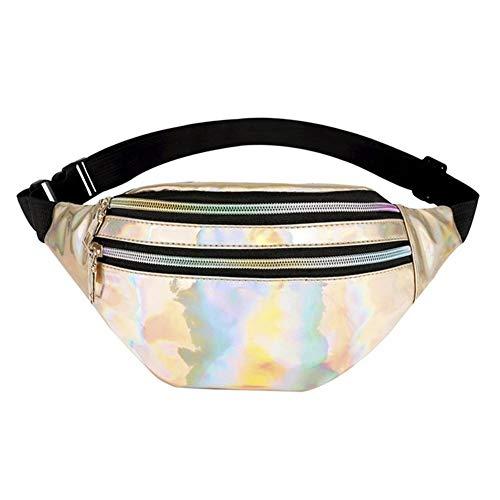 LUOSI Borsa A Tracolla Riflettente per Donna. Borsa A Tracolla Riflettente per Donna Bag (Color : E368348A, Size : One Size)