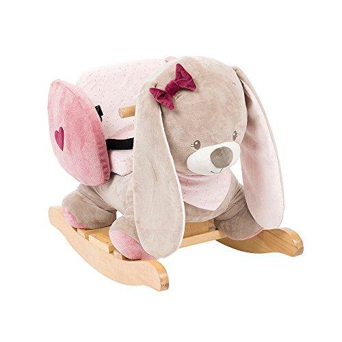 Nattou Dondolo per bambini Nina Il Coniglietto, 10-36 mesi, 62 x 32 x 52 cm, Beige/Rosa, 987295