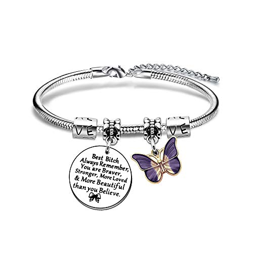 BHXRODE Confidante Bangle Bracelets Encouraging Gift Women Jewellery Female Bosom Best Friend Birthday Christams Present
