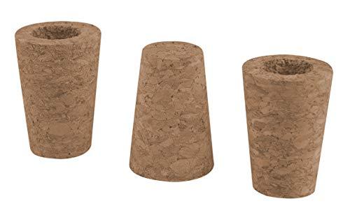 Windhager Rosenkugel-Korken, Ersatzkorken für Gartenkugel, 3 Stück für 12-16 cm Kugeln, 3 x 13 x 13 cm, 07954, braun