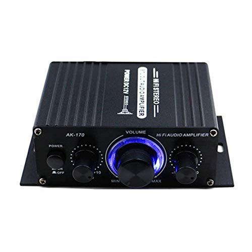 Amplificador BT,Tickas 400W DC12V BT Amplificador HiFi Car Stereo Music Receiver FM...