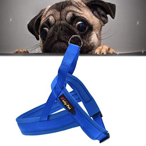 Haustier Pet Zugseil Haustier Hund Nylon bequem O-Ring A7 Brustgurt Führs, Größe: L, Einstellbereich: 68-84cm (Schwarz) (Color : Blue)