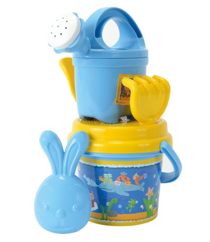 Simba 109467438 - Kikaninchen Eimergarnitur, Sandspielzeug, Sandkasten, 6 Teile, mit Kika Sandform, Sandeimer