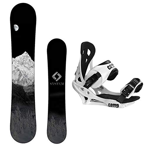 System MTN Snowboard with Summit Bindings Men's Snowboard Package (147 cm)