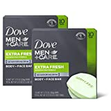 Dove Men+Care Body and Face Bar, Extra Fresh, 4 Ounce, 20 Count