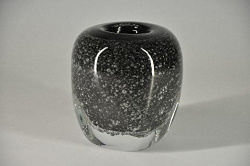 Glasfeld, Glas, Vase, Sommerso, Technik, schwarz, Lufteinschlüsse, Handarbeit