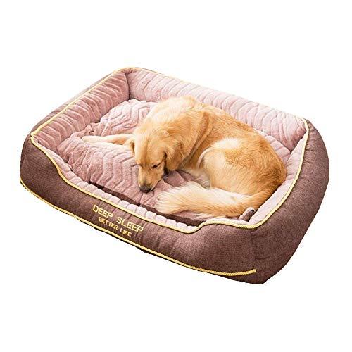 qiuqiu Cama para perro, sofá cama extragrande para perro, cojín cálido, cueva, extraíble y lavable, nido grueso para mascotas para cuatro estaciones, para perros medianos y grandes, color rojo ||M