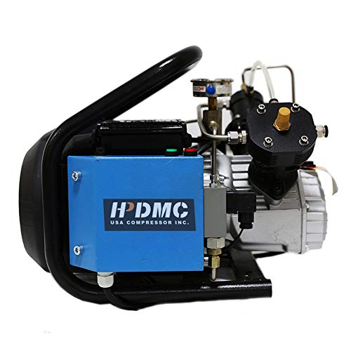 HPDMC 110v 4500psi High Pressure Air Compressor PCP Paintball Fill Station & Charging System (LM60-Auto)