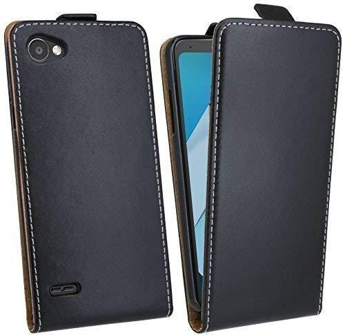 cofi1453® Flip Hülle kompatibel mit LG Q6 Handy Tasche vertikal aufklappbar Schutzhülle Klapp Hülle Schwarz