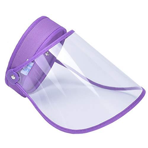 FEOYA Protectoras para la Cara Transparente Visera Seguridad de Cara Completa Anti-Saliva a Prueba de Viento a Prueba de Polvo Protector Facial