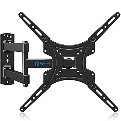 Full Motion TV Wall Mount Bracket Articulating Arms Swivels Tilts Extension Rotation for Most 13-55 Inch LED LCD Flat Curved Screen TVs, Max VESA 400x400mm up to 66lbs by Pipishell