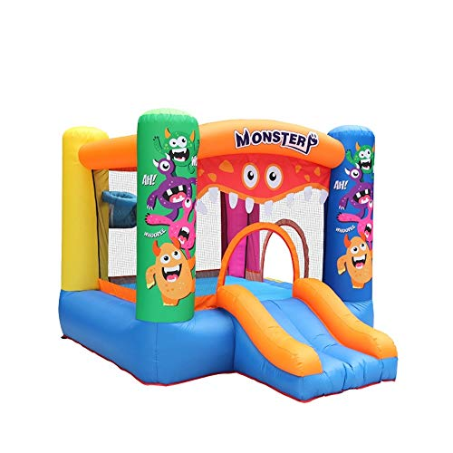 Inflatable Castle Inflatable Castle Large Slide Outdoor Amusement Equipment Water Inflatable Children's Playground for Kids (Color : Orange, Size : 295x270x195cm)