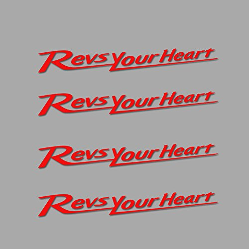 Ecoshirt KE-X0KT-9ICN Stickers Motogp Revs Your Heart Am2 Stickers Autocollants Autocollants Rouge
