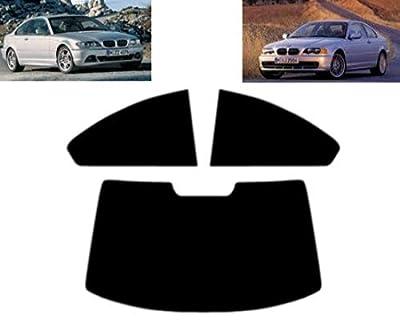 Film Solaire Prédécoupé Teinté pour-BMW 3 série E46 2-Portes Coupé 1999-2005 Vitres Arrière & Lunette