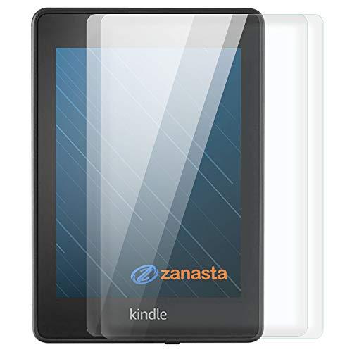 Zanasta Protector de Pantalla Compatible con Amazon Kindle Paperwhite (2018) 4. Gen Protector de Pantalla de Vidrio Templado (Cristal), Transparente Transparente Transparente 2 Unidades