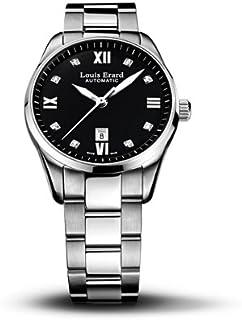 Louis Erard - 20100AA12.BMA17 - Reloj analógico automático para Mujer con Correa de Acero Inoxidable, Color Plateado