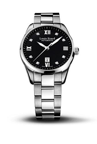 Louis Erard 20100AA12.BMA17 - Reloj analógico automático para Mujer con Correa de Acero Inoxidable, Color Plateado