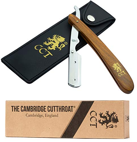 The Cambridge Cutthroat Straight Razor With Blades For Men