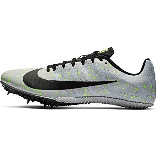 Nike Unisex-Erwachsene Zoom Rival S 9 Leichtathletikschuhe, Mehrfarbig (Pure Platinum/Black/Volt Glow 077), 42.5 EU